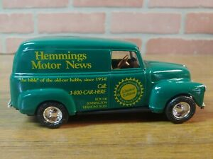 ERTL Hemmings Motor News 1950 Chevy Panel Bank 1:25 Diecast Metal Bank