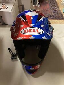 Bell Nitro Circus Sanction Medium  Bicycle MTB Bike Helmet Silver Blue Red
