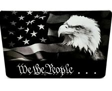 We The People American Flag,Billet Aluminum Trailer Hitch Cover,3x5, Made In Usa