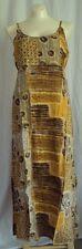 H32 Beautiful Gold Tribal Feel Tank SunDress SACRED THREADS 2014  Dress/Long S/M