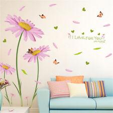 Dutch Chrysanthemum Hoom Room Decor Removable Wall Sticker Decal Wandtattoo