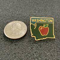 Washington State Red Apple State Travel Souvenir Pin Pinback #38381
