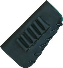 buttstock cover, 6 rifle cartridges holder, genuine leather #237-3