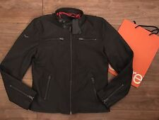 Superdry Hero Biker Leather Jacket Dark Brown Mens XL New With Tags Cost £200