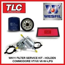 WK11 Air Oil Fuel Filter Kit Holden Commodore VT VX V6 3.8L With Factory LPG