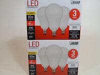 6 Pack LED CANDELABRA BASE small WARM WHITE Feit 60W Equivalent  6W Light Bulbs