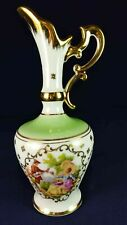 LIMOGES COURTING COUPLE GREEN & WHITE SMALL EWER