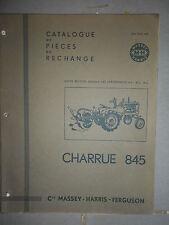 Massey Harris Ferguson charrue 845 : catalogue pièces 1956