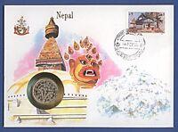 Numisbrief UN Nepal Stempel Kathmandou NB-A1/10