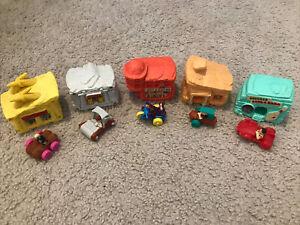 Flintstones Vehicle And Building Collection Rare Vintage!
