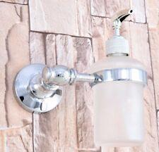 Soap Dispenser Chrome Wall Mounted bathroom hand wash Liquid Soap Dispenser
