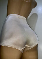 VTG Flexees Shaping Gold Hi Cut Brief Panties Sissy Second Skin Sz M