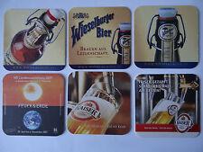Set mit 6 verschiedenen Bierdeckeln - Brau Union AG, Österreich