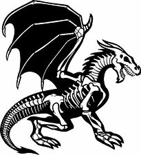 Dragon Skeleton Creature Monster Car Truck Window Laptop Vinyl Decal Sticker