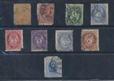 NORWAY 1867-78 USED SPACEFILLERS...9 stamps...cv £180