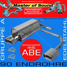 MASTER OF SOUND DUPLEX EDELSTAHL AUSPUFF BMW 3ER 320 323 328 E46