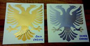 2 Albanian Flag Eagle Sticker. Car Laptop Decal. Free Recorded Postage