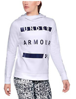 Under Armour Women's Synthetic Word Mark Fleece White Pullover