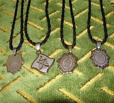 Ayatul Kursi Yasin 4 Necklace Tag Charm Pendants Charm Muslim Islam Qul Muhammed