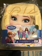 Home Kids Bathroom Disney Frozen Elsa Hooded Towel Poncho Cotton Girls