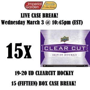 19-20 UD CLEAR CUT 15 (FIFTEEN) BOX CASE BREAK #2374 - Toronto Maple Leafs