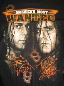 TNA Wrestling Most Wanted CHRIS HARRIS Wild Cat JAMES STORM Cowboy (2XL) Shirt