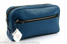 COACH Cobalt Blue Leather Travel Toiletry /Make up Bag Case BNWT