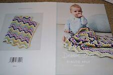 Debbie Bliss Crochet Pattern Rialto 4Ply Baby Zig Zag Blanket