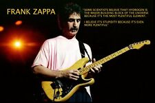 FRANK ZAPPA QUOTE: SOME SCIENTISTS BELIEVE THAT... A4 POSTER PRINT