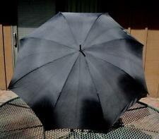 VINTAGE LARGE BLACK POP UP UMBRELLA PARASOL