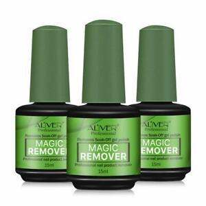 3 Pcs Magic Nail Polish Remover Easily  Quickly Removes Soak-Off Gel Polish 15ml