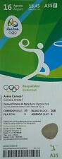 TICKET 16.8.2016 Olympic Rio Basketball Women's USA - Japan # A35