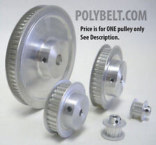 28Xl037 Aluminum Timing Belt Pulley 28 Tooth, 0.25 Bore, 2 Flanges, 2 Set Screws