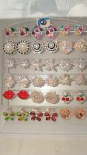 Joblot of 18Pairs Mixed Design Sparkly Diamante stud Earrings-NEW Wholesale lot2