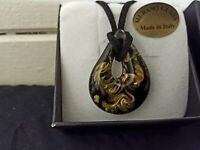 Beautiful murano necklace made in italy..still in box.