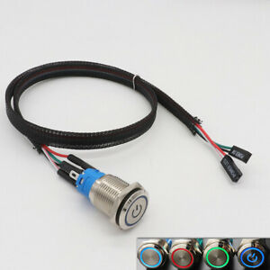 PC Host Start Power SW Button Switch Computer Reset SW Button Switch With Cable