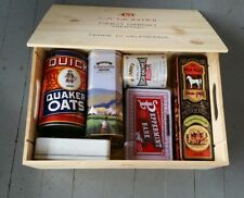 Lot of Tins & Ca' Montini Wine Box, Quaker Oats (Hb)