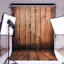 5x7FT Wood Wall Floor Wedding Studio Prop Photography Backdrops Photo Background