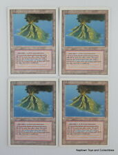 Mtg Volcanic Island x4 Revised 3rd Edition Dual Lands Reserved List EX/NM