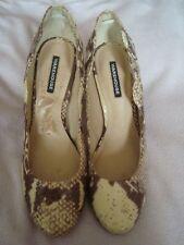 WAREHOUSE  UK 5  EU 38  Brown snake print shoes
