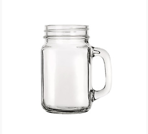 480ML.GLASS DRINKING JAR INC. LID WITH HOLE FOR A STRAW-CHOICE OF PACKS NO STRAW