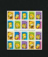 The Simpsons 2009 Mint NH Full Sheet of 20 Stamps #4399-4403 Convertible Booklet
