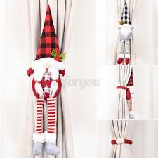 Christmas Santa Snowman Curtain Tiebacks Window Doll Decor Buckle Holdback Home