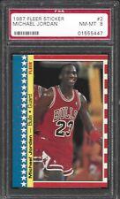 1987-88 Fleer Michael Jordan Sticker #2 PSA 8 NM-MT [JFCARD]