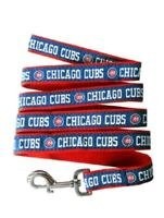 """New MLB Chicago Cubs Size Large Dog Leash 1""""W x 6 ft Long Blue Red Pets First Co"""