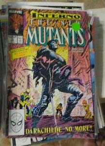 NEW MUTANTS  # 73 1988 marvel  inferno+ limbo magik  illyana darkchild no more