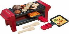 Mini Gril raclette Pour 1 à 2 personnes Revêtement anti-adhésif 350 W Rouge Noir