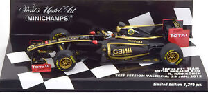 Minichamps Lotus R30 Valencia Test Session Jan. 2012 - Kimi Raikkonen 1/43 Scale