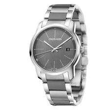Calvin Klein Men's City K2G2G1P4 43mm Gray Dial Stainless Steel/Silicone Watch