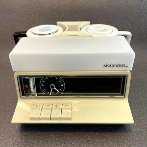 Vintage Swan Goblin Teasmade Working, Alarm Clock Tea Coffee Maker Maid Made 860